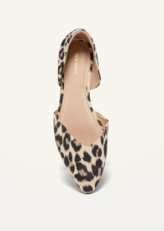 Old Navy Canvas Leopard-Print D'Orsay Flats for Women