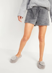 Old Navy Cozy Faux-Fur Sherpa Lounge Shorts for Women -- 3-inch inseam
