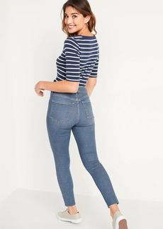 Old Navy Extra High-Waisted Button-Fly Rockstar 360° Stretch Super Skinny Cut-Off Ankle Jeans for Women