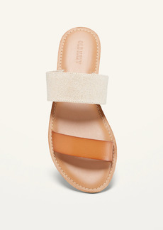 Old Navy Faux-Leather/Textile Double-Strap Sandals for Women