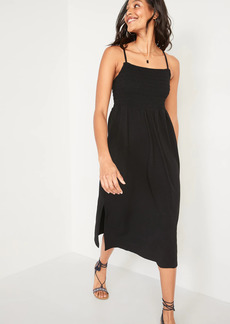 Old Navy Fit & Flare Smocked Cami Midi Dress for Women