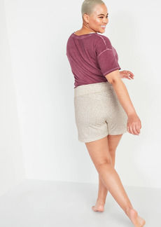 Old Navy Foldover-Waist Lightweight French Terry Yoga Shorts for Women -- 4-inch inseam