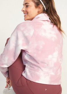 Old Navy Go-Warm Cropped Micro Performance Fleece Funnel-Neck Sweatshirt for Women