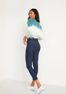Old Navy High-Waisted Dark-Wash Super Skinny Ankle Jeans for Women