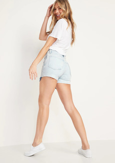 Old Navy High-Waisted O.G. Exposed Pocket Cut-Off Jean Shorts for Women -- 3-inch inseam