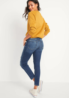 Old Navy High-Waisted O.G. Straight Ripped Ankle Jeans for Women