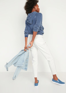 Old Navy High-Waisted O.G. Straight White Jeans for Women