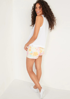 Old Navy High-Waisted O.G. Tie-Dye Button-Fly Jean Shorts for Women -- 1.5-inch inseam