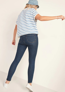 Old Navy High-Waisted Rockstar Super Skinny Dark-Wash Jeans for Women