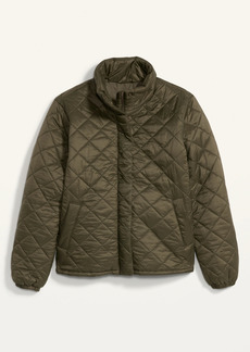 Old Navy Lightweight Diamond-Quilted Nylon Puffer Jacket for Women