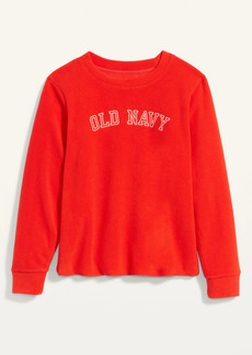 Old Navy Logo-Graphic Micro Performance Fleece Sweatshirt for Women
