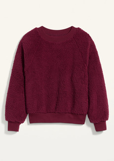 Old Navy Loose Cozy Sherpa Sweatshirt for Women