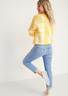 Old Navy Mid-Rise Boyfriend Straight Ripped Jeans for Women