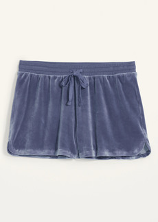 Old Navy Mid-Rise Cozy Velour Lounge Shorts for Women -- 2.5-inch inseam