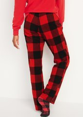Old Navy Mid-Rise Patterned Micro Performance Fleece Pajama Pants for Women