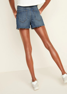 Old Navy Mid-Rise Studded-Pocket Boyfriend Cut-Off Jean Shorts for Women -- 3-inch inseam