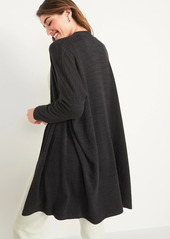 Old Navy Oversized Cozy-Knit Open-Front Lounge Robe for Women