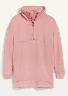 Old Navy Oversized Half-Zip French Terry Funnel-Neck Sweatshirt for Women