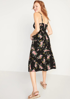 Old Navy Printed Fit & Flare Cami Midi Dress for Women