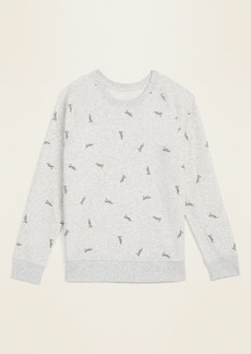 Old Navy Relaxed Vintage Crew-Neck Sweatshirt for Women