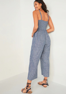 Old Navy Sleeveless Linen-Blend Jumpsuit for Women