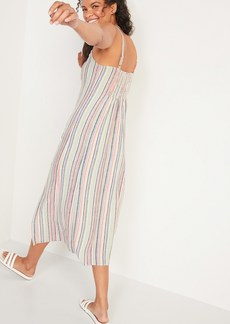 Old Navy Sleeveless Striped Linen-Blend Maxi Shift Dress for Women