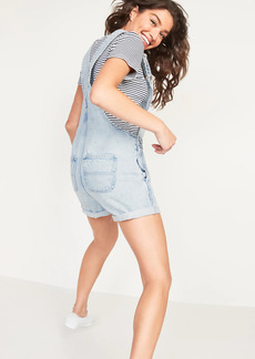Old Navy Slouchy Straight Jean Short Overalls for Women -- 3.5-inch inseam