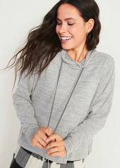 Old Navy Soft-Brushed Plush-Knit Pullover Lounge Hoodie for Women