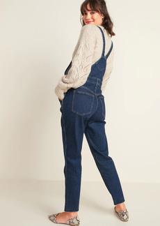 Old Navy Straight Dark-Wash Jean Overalls for Women