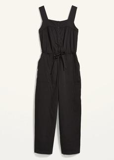 Old Navy Tie-Waist Twill Sleeveless Jumpsuit for Women