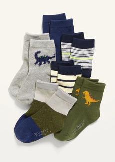 Old Navy Unisex 6-Pack Printed Crew Socks for Toddler & Baby
