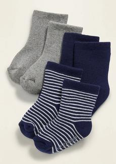 Old Navy Unisex Crew Socks 3-Pack for Baby