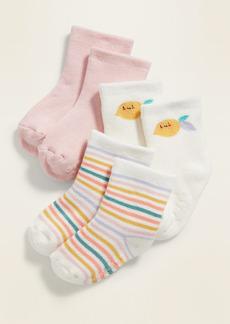 Old Navy Unisex Plush Crew Socks 3-Pack for Baby