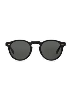 Oliver Peoples Gregory Peck 50MM Round Sunglasses