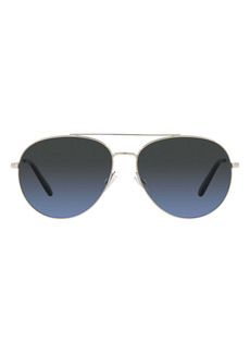Oliver Peoples Airdale 58mm Polarized Aviator Sunglasses