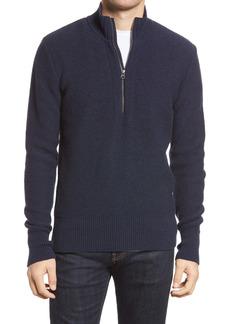 Oliver Spencer Carew Wool Half Zip Sweater