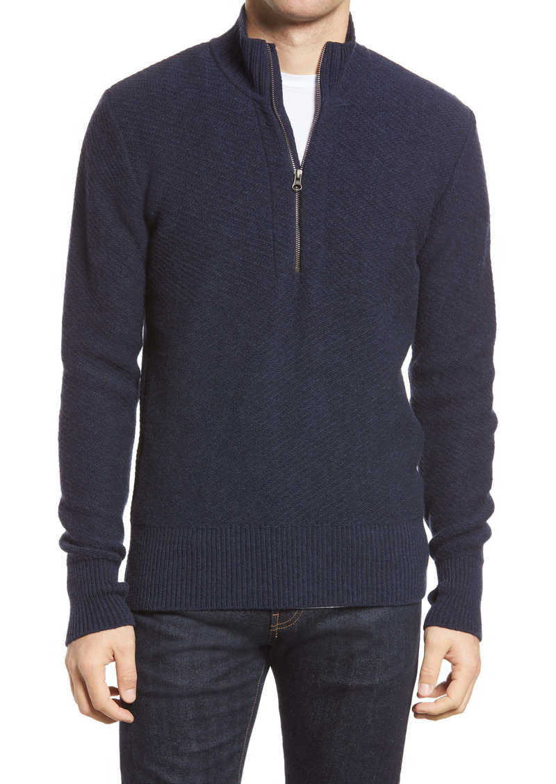 Oliver Spencer Carew Wool Half Zip Sweater