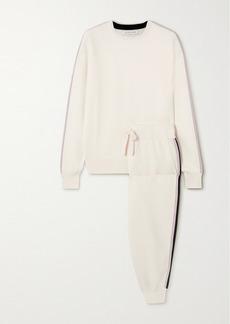 Olivia von Halle Missy Moscow Striped Silk-blend Sweatshirt And Track Pants Set