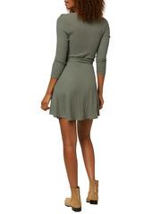 O'Neill Westling Knit Long Sleeve Wrap Minidress