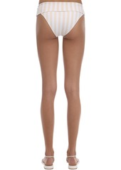 WeWoreWhat Annie Belted Striped Bikini Bottoms