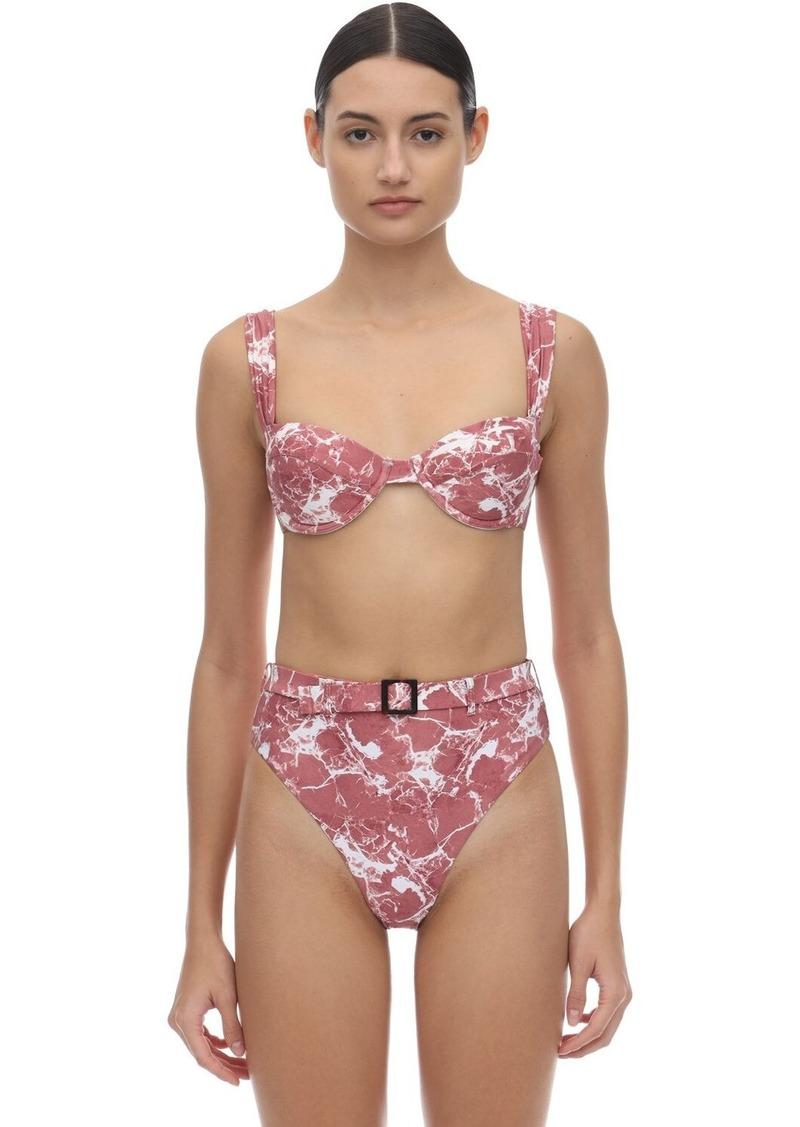 WeWoreWhat Claudia Marble Bikini Top W/ Underwire