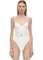 WeWoreWhat Danielle Eyelet Lace One Piece Swimsuit