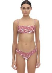 WeWoreWhat Leigh Marble Printed Bikini Top