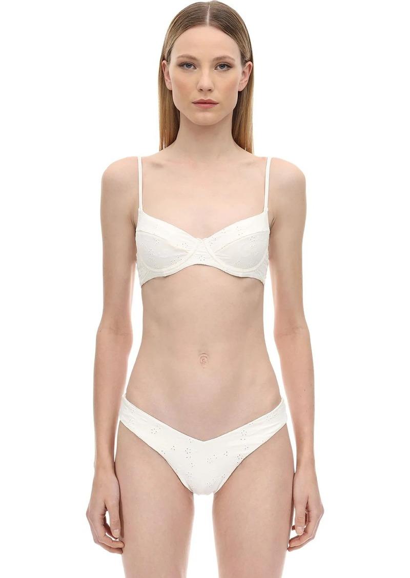 WeWoreWhat Lydia Eyelet Lace Bikini Top