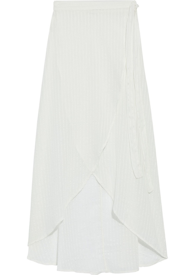 Onia Woman Amanda Cotton-blend Jacquard Maxi Wrap Skirt Ivory