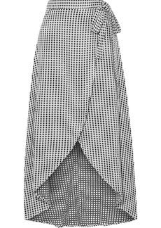 Onia Woman Amanda Cotton-jacquard Wrap Skirt White