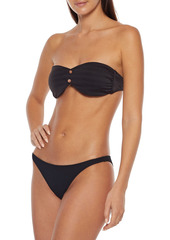 Onia Woman Ashley Ribbed Low-rise Bikini Briefs Black