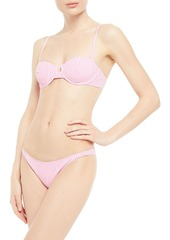 Onia Woman Ashley Striped Ribbed Low-rise Bikini Briefs Pink
