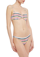 Onia Woman Ashley Striped Stretch-piquè Low-rise Bikini Briefs Multicolor