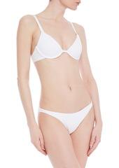 Onia Woman Ashley Textured Low-rise Bikini Briefs White